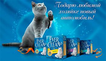 Акция «Ever Clean» – «Подарю любимой хозяйке новый автомобиль!»