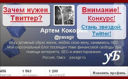 Обзор на конкурс «Стань звездой Twitter!»